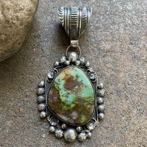 Jewelry - N.A.SterlingSilver Green Royston Turquoise Pendant